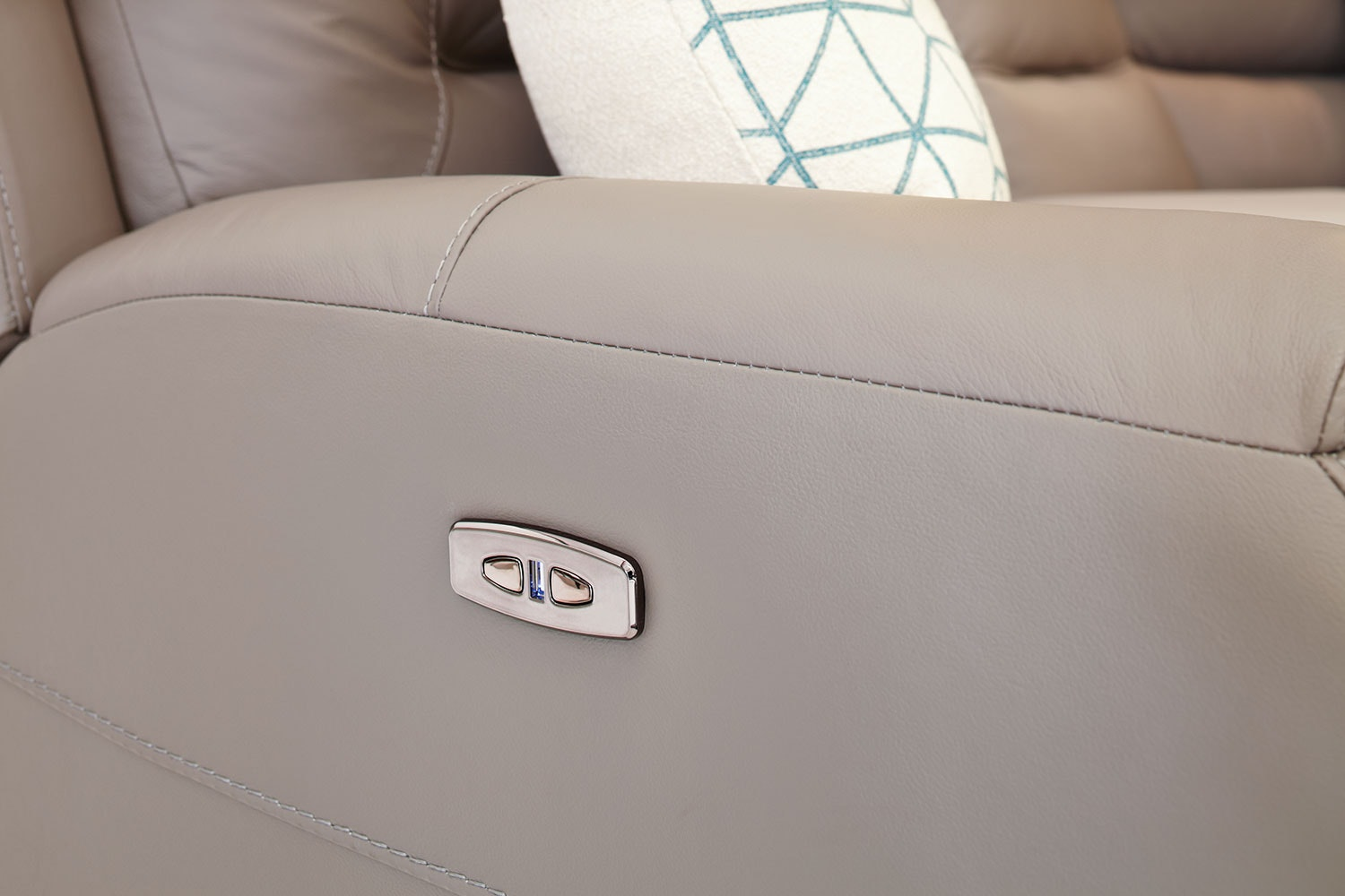 Hayes Corner Leather Lounge Suite by Dixie Cummings