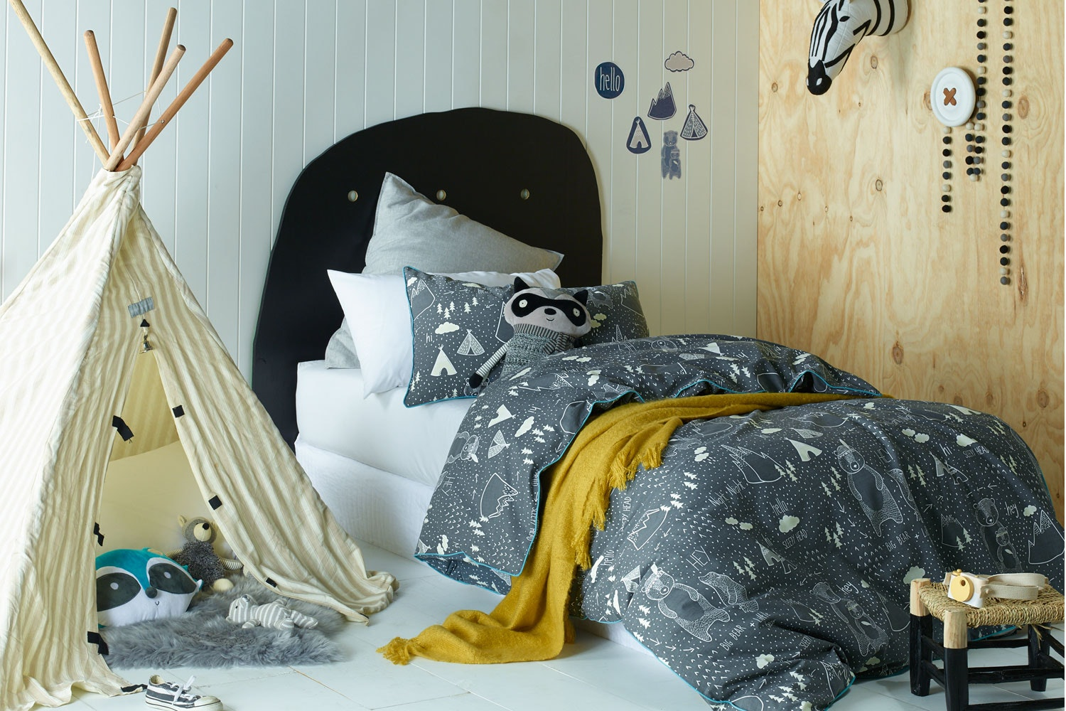 In The Woods Duvet Cover Set  by Jiggle and Giggle