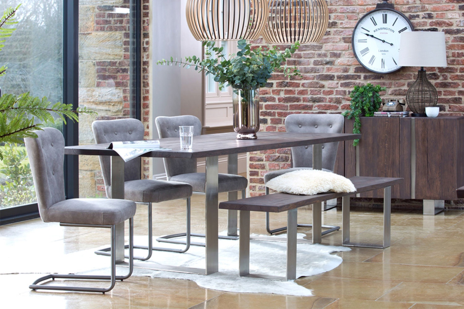 Luxemburg 240 Rectangle Dining Table by Collage