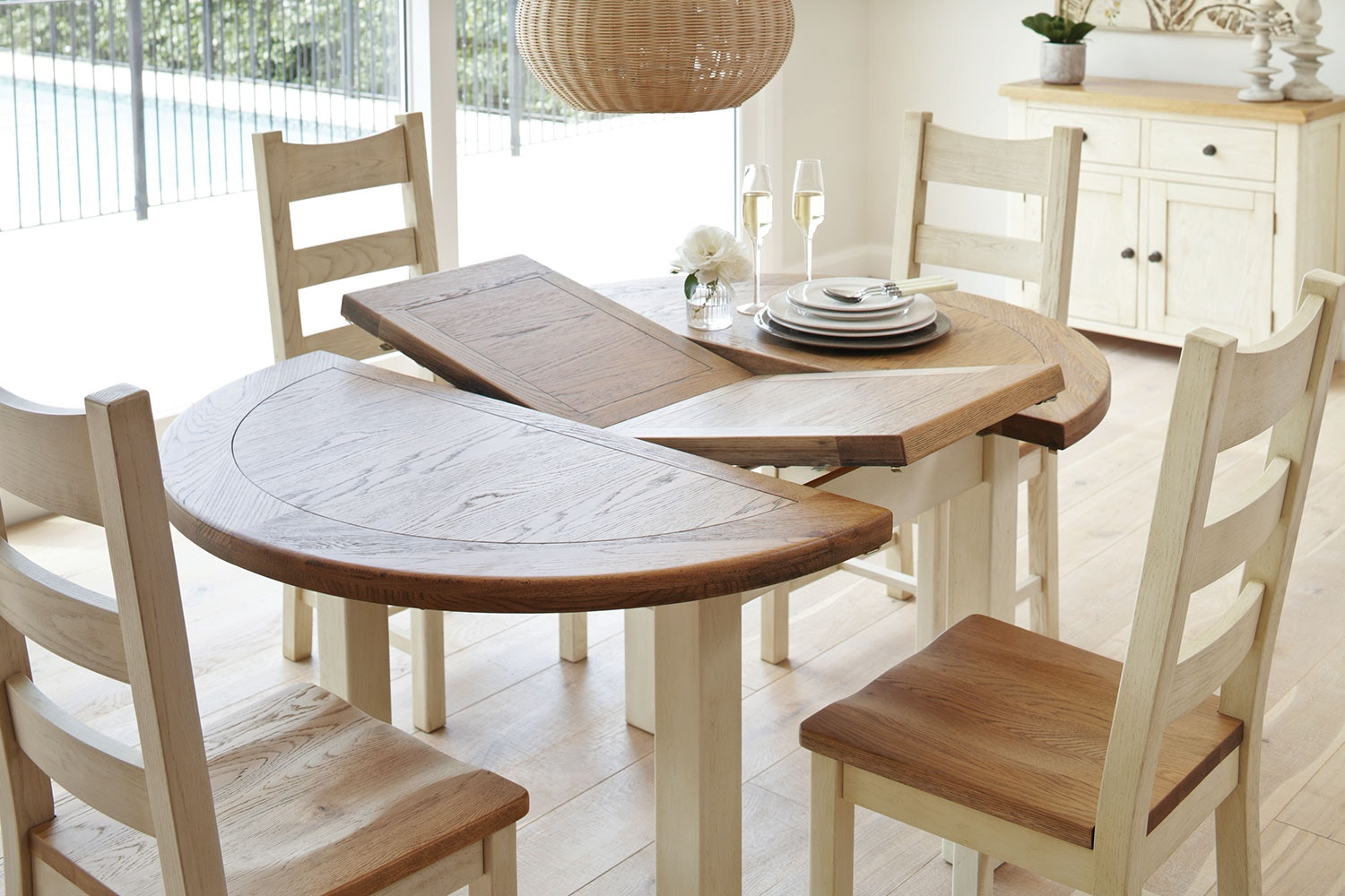 ... Mansfield 5 Piece Extension Dining Suite By Debonaire Furniture ...