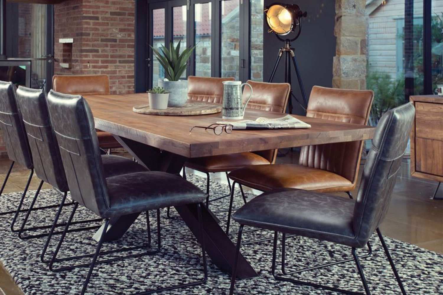 Soho 240 Rectangle Dining Table by Collage