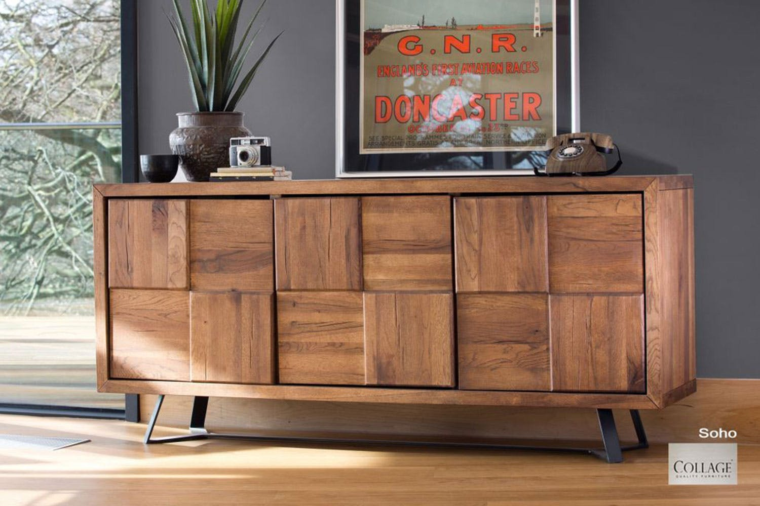 Buffet Table.Soho Multi Panel Buffet Table By Collage