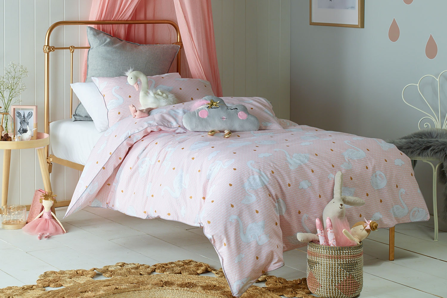 Swan Princess Duvet Cover Set by Jiggle and Giggle