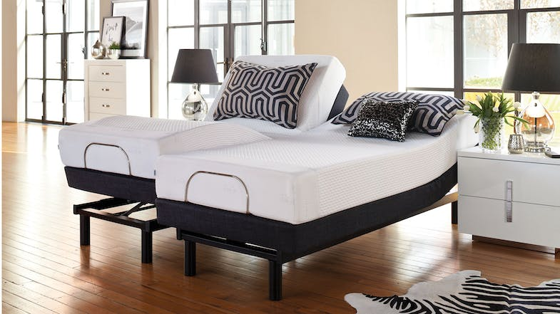 19cm Long Single Mattress with Lifestyle Adjustable Base by Tempur