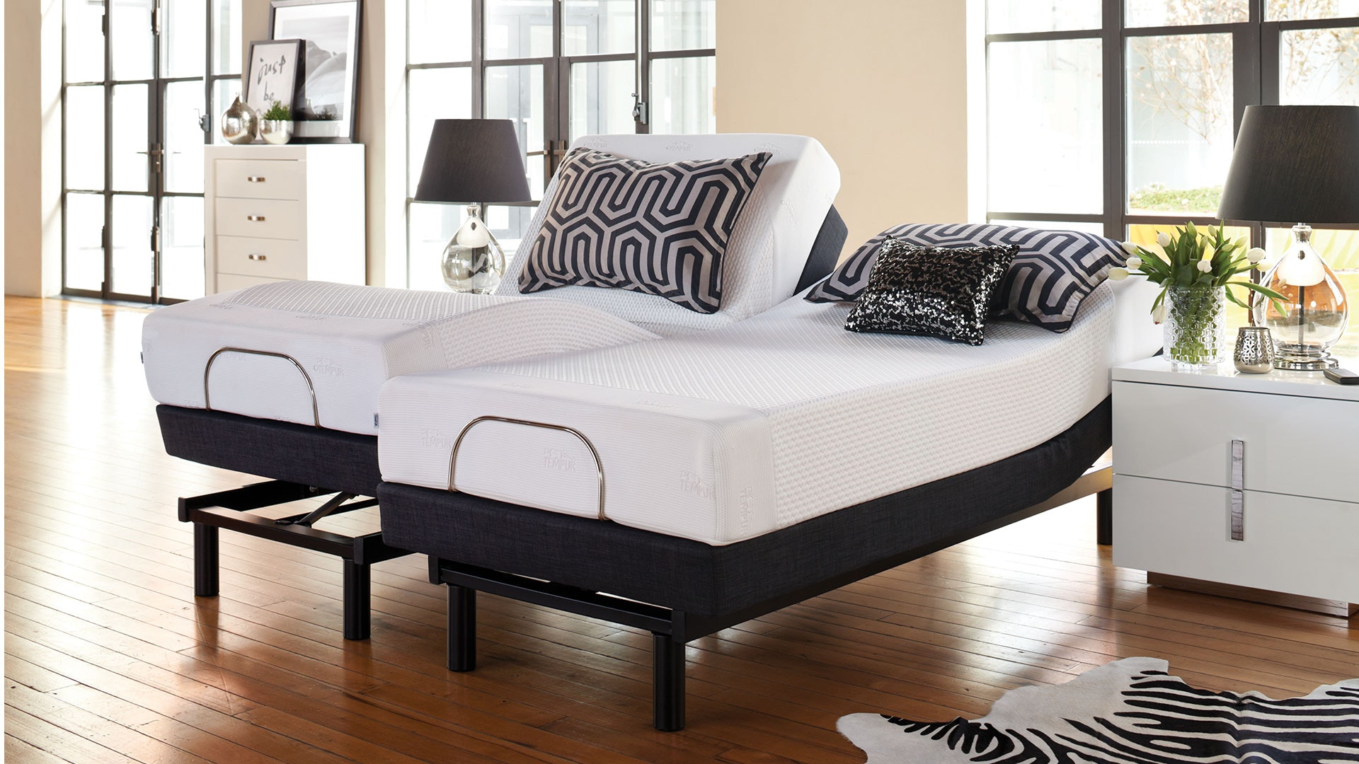19cm Queen Mattress with Lifestyle Adjustable Base by Tempur