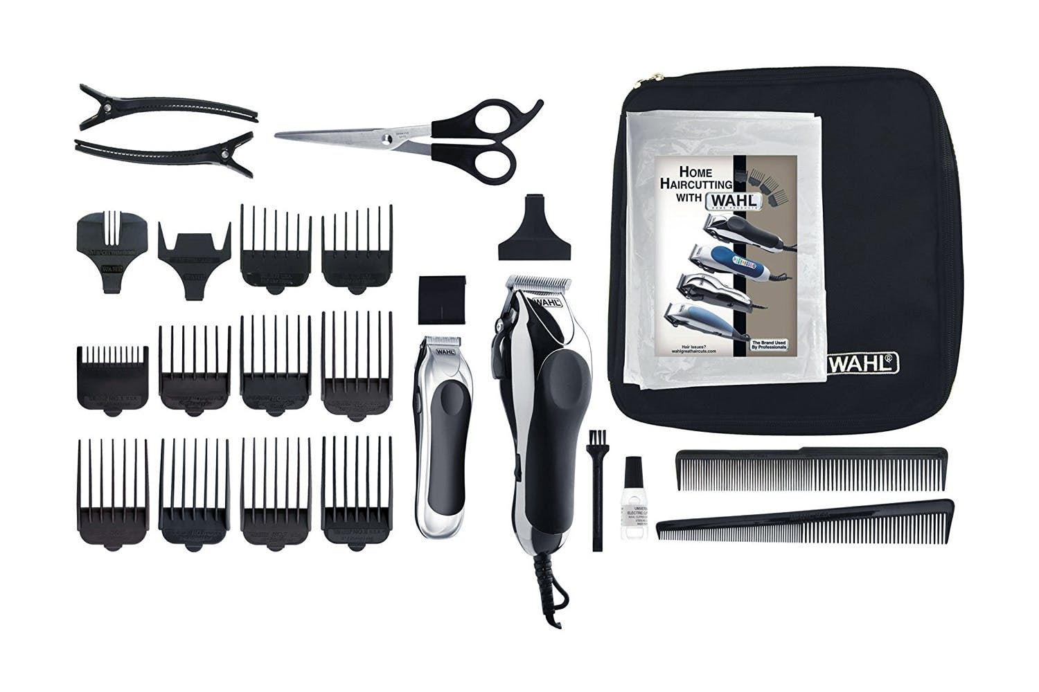 Haircut kits clippers hair clippers wahl clippers harvey wahl deluxe chrome pro hair clipper kit solutioingenieria Image collections