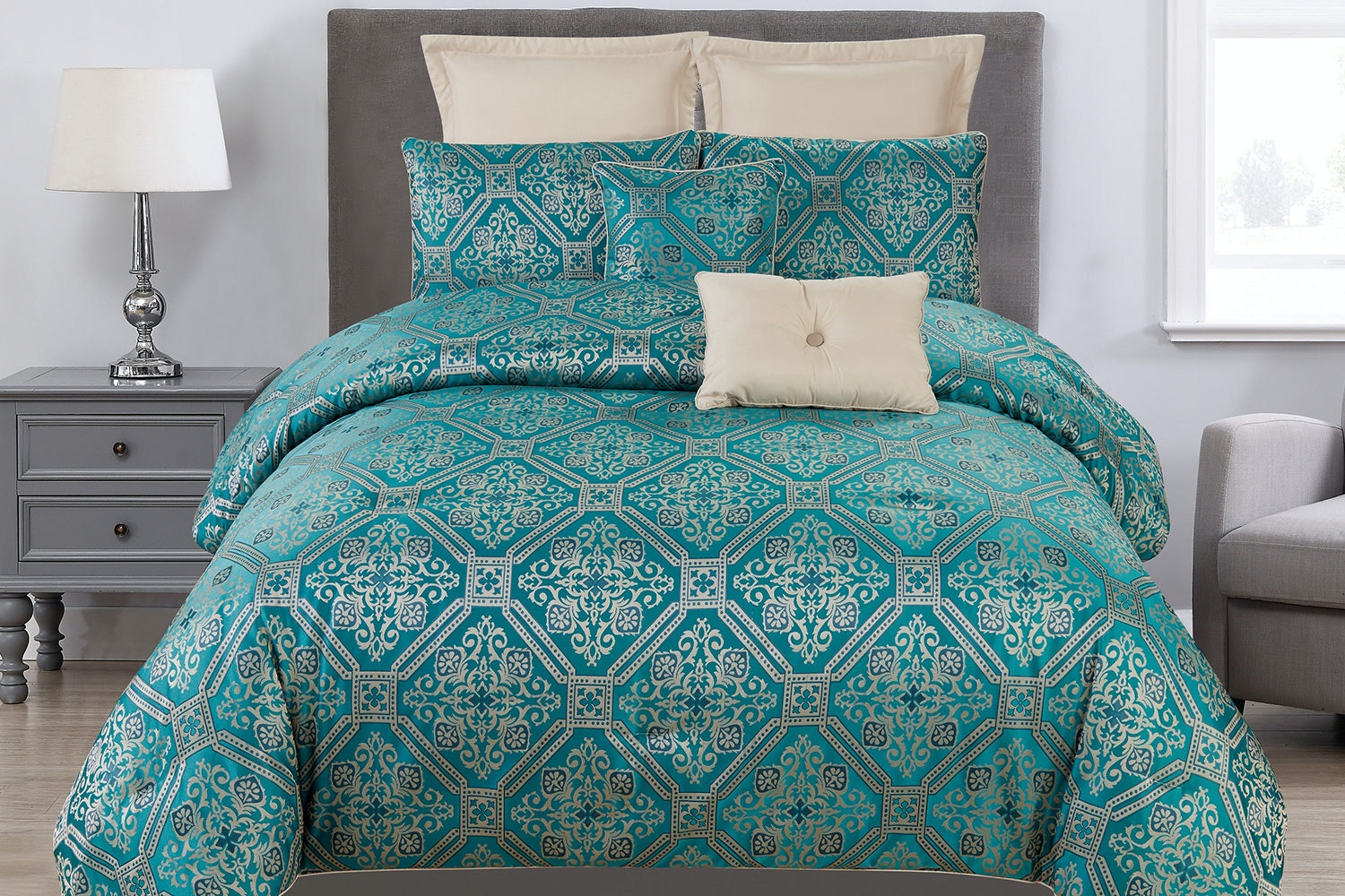 Raoul 8 Piece Comforter Set by Marlborough Textiles