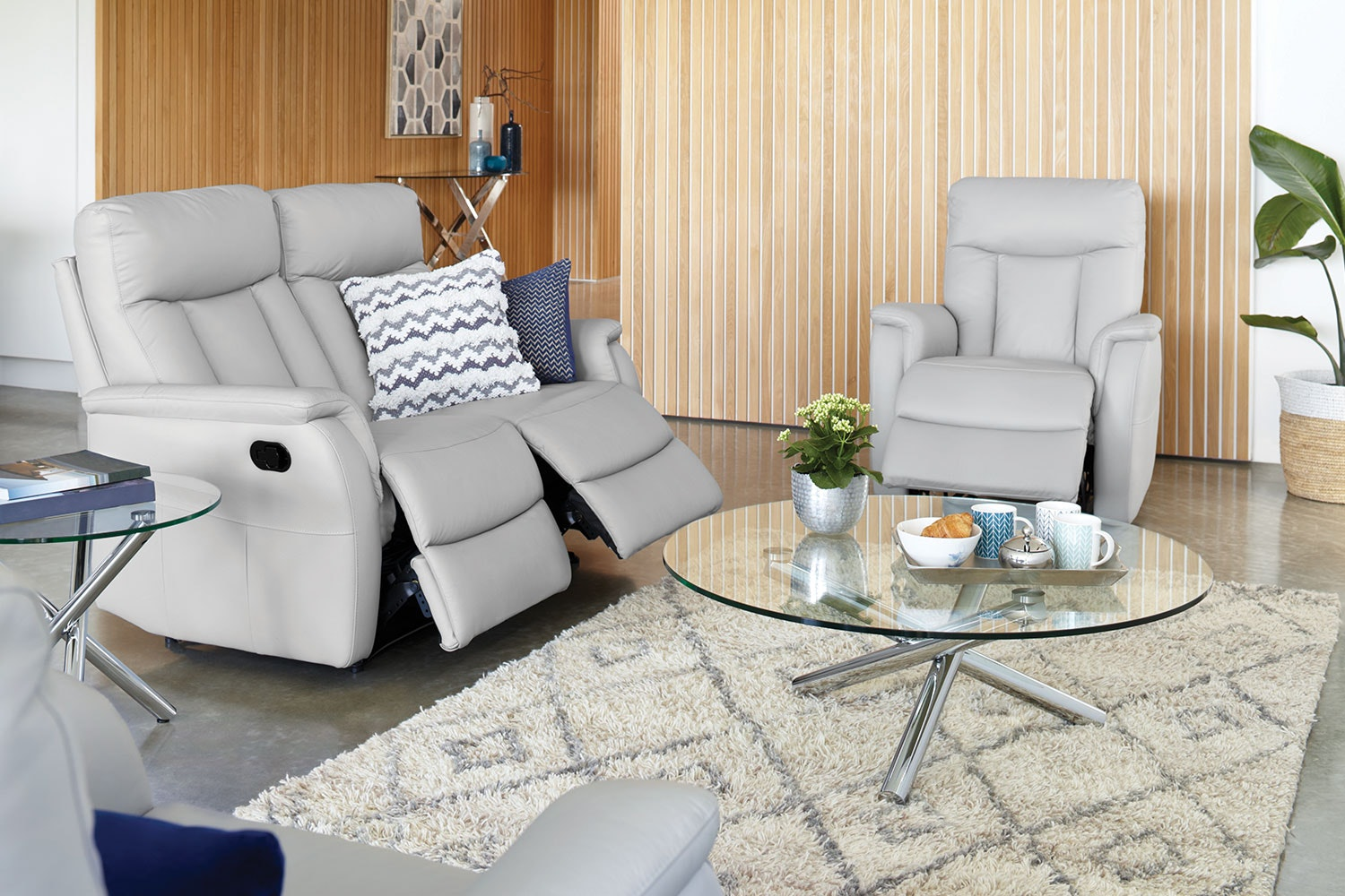 Eliza 3 Piece Leather Lounge Suite by John Young Furniture