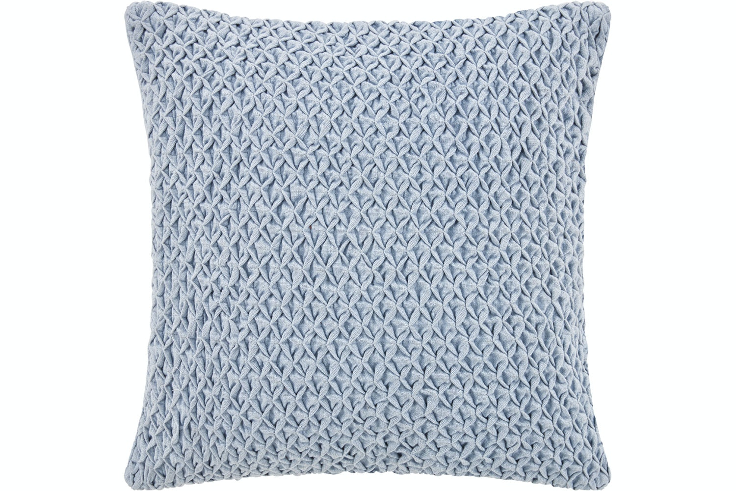 Braughton Rosette Chambray Square Cushion by Sheridan