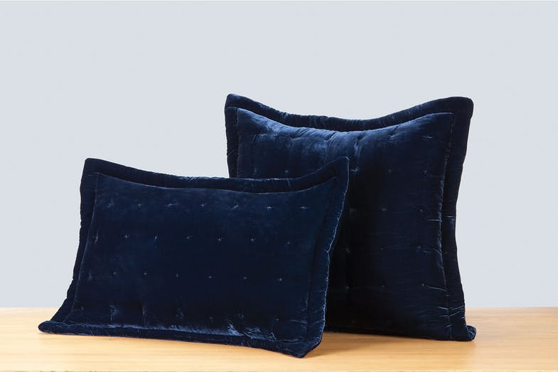Dimple Velvet Accessory Range by Seneca - Navy
