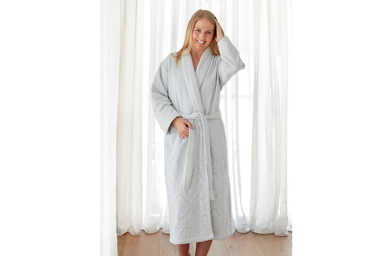 Womens Hera Bathrobe by Baksana - Seafoam