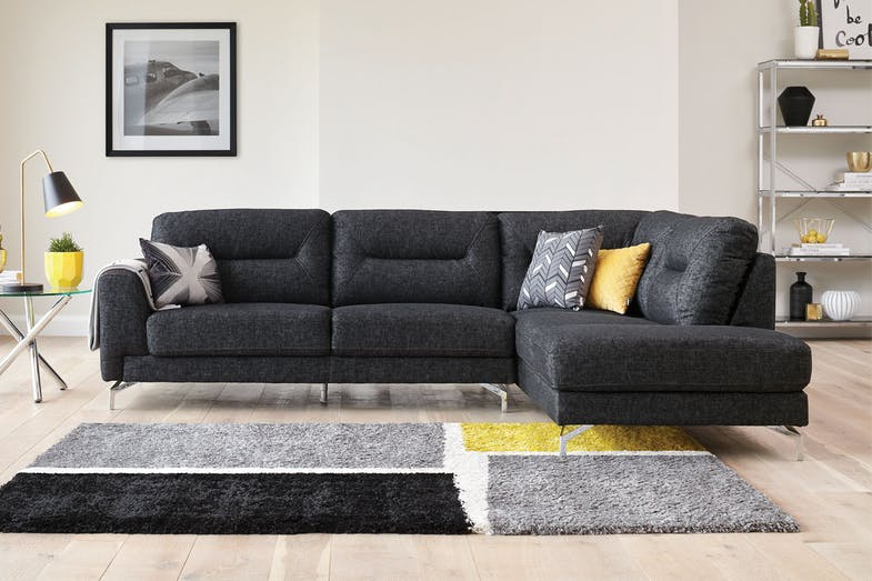Caesar 3 Seater Fabric Sofa with Chaise