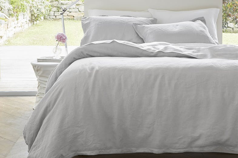 Linen Ash Duvet Cover Set by Baksana