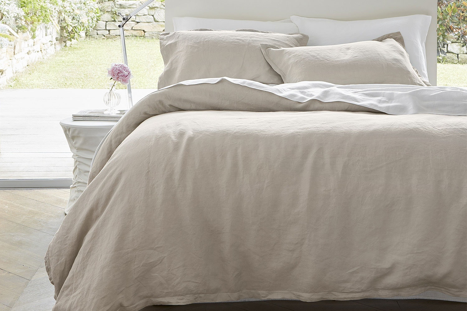 Linen Sand Duvet Cover Set by Baksana