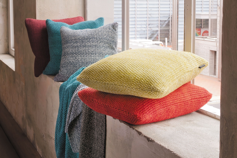 Milford Moss Stitch Cushion by Mulberi
