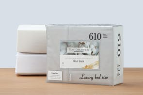 610TC Lux 100% Cotton Sheet Set by Top Drawer - 45cm drop