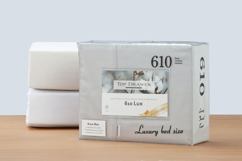 610tc Lux 100 Cotton Sheet Set By Top Drawer 45cm Drop Harvey Norman New Zealand