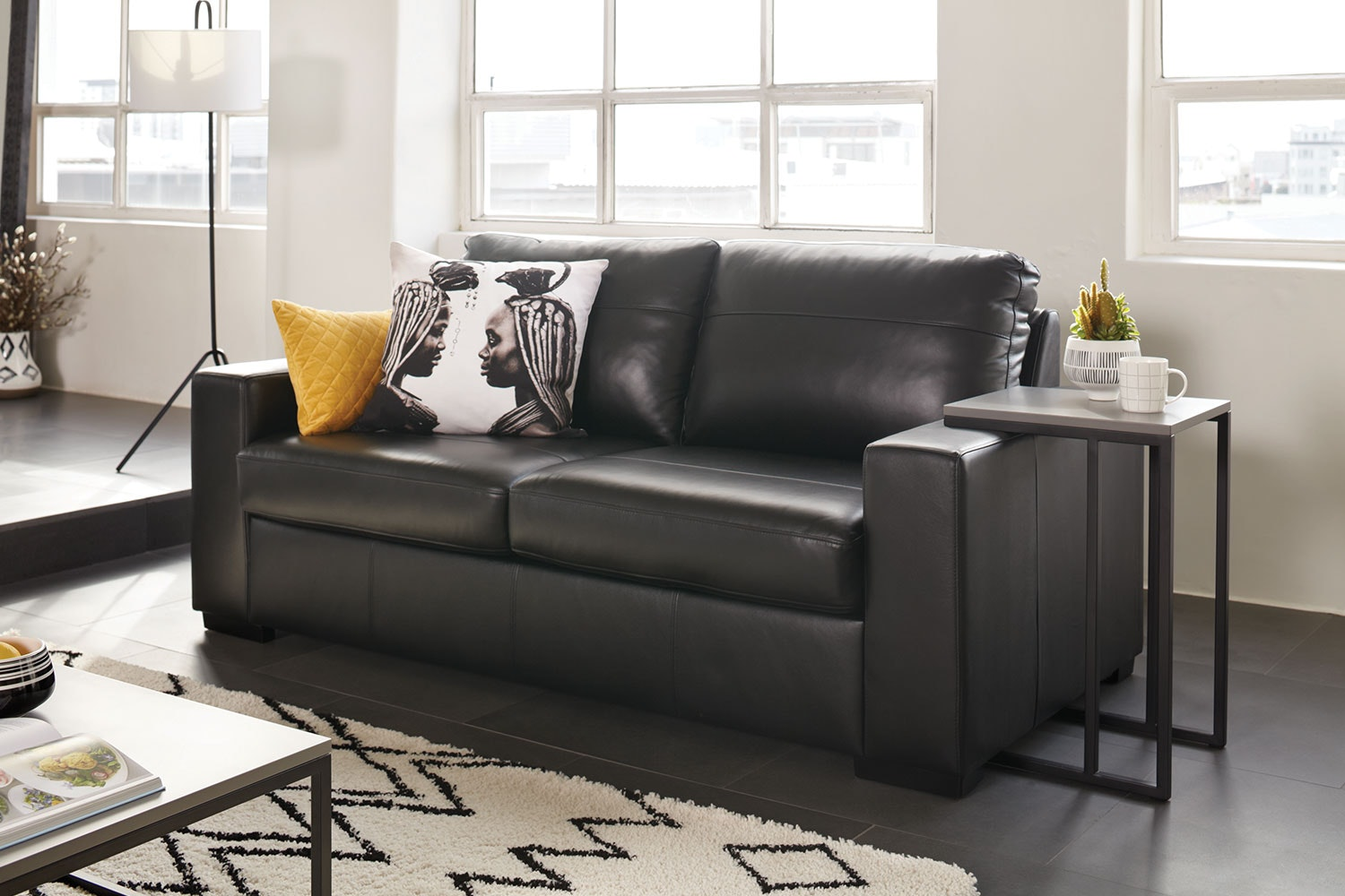 jetson leather sofa bed