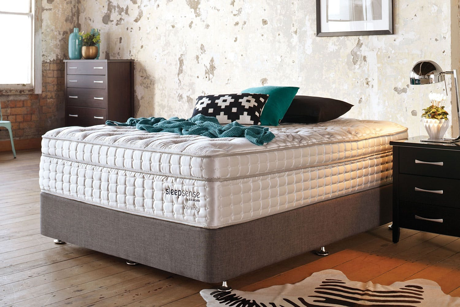 Vibrancy King Single Bed by Sleepsense