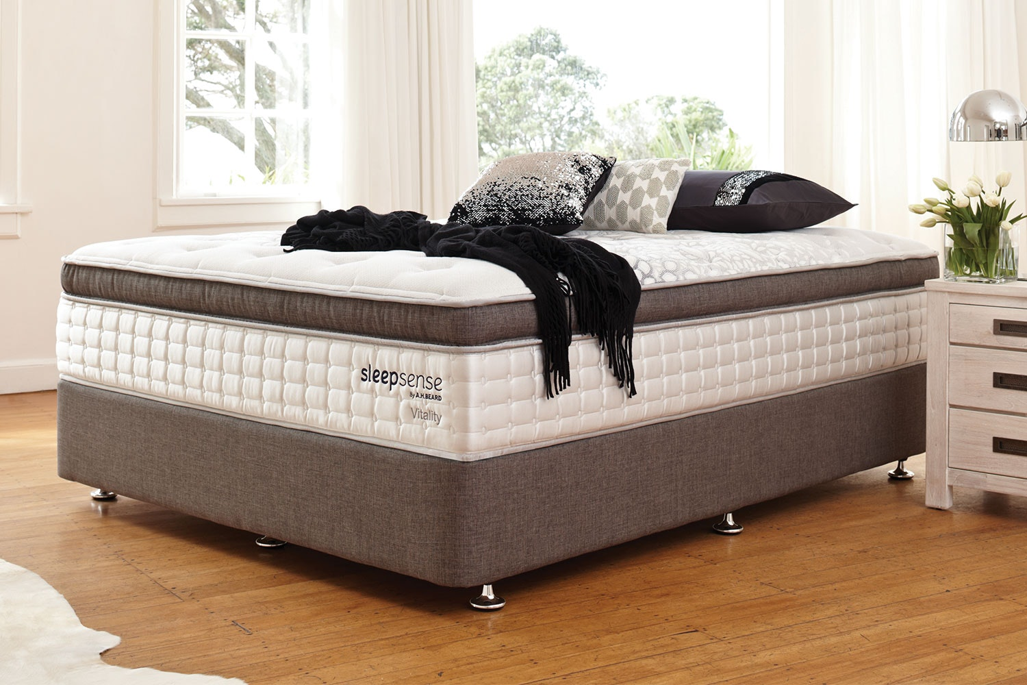 Vitality Long Single Bed by Sleepsense