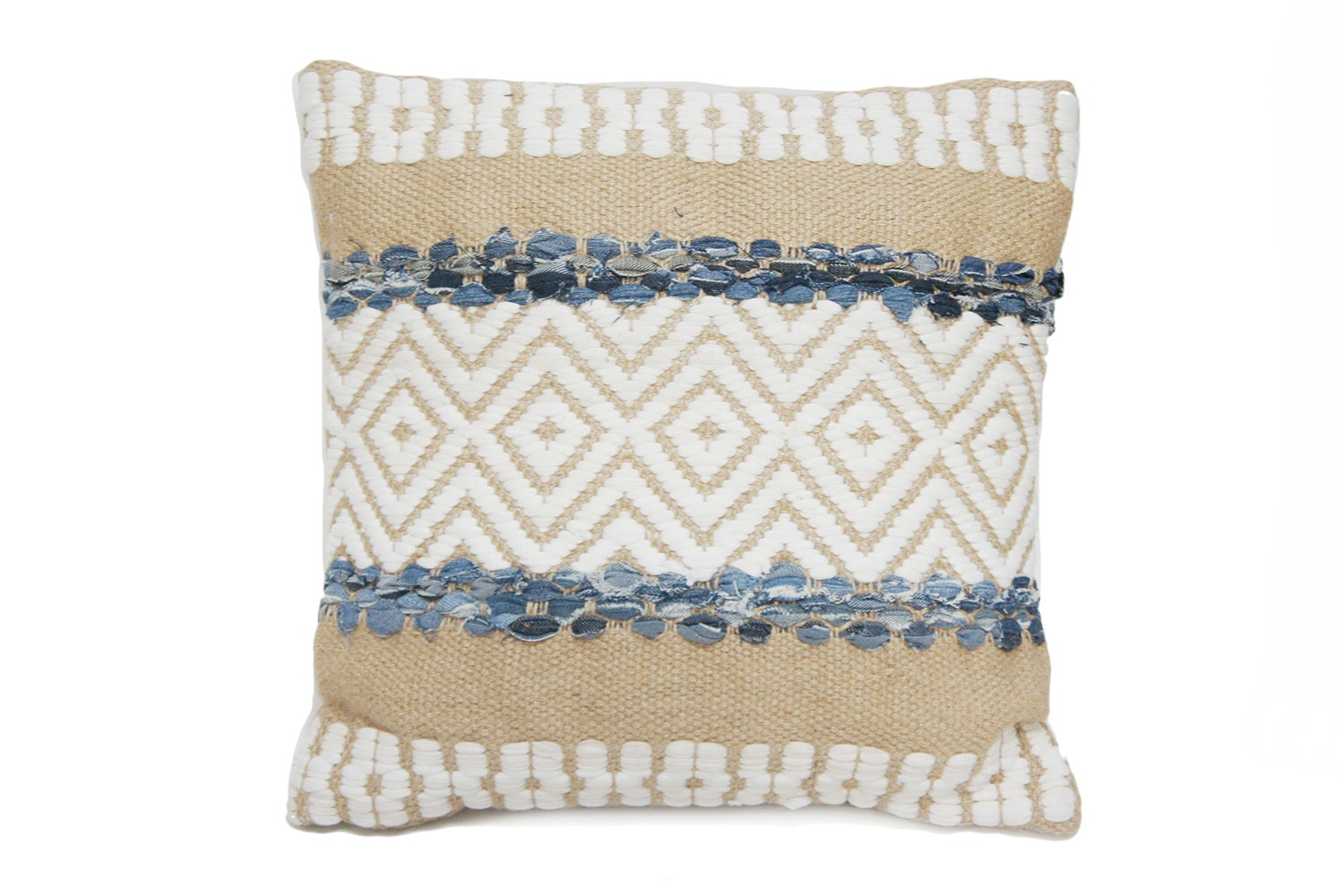 Sahi Square Cushion by Stoneleigh and Robertson