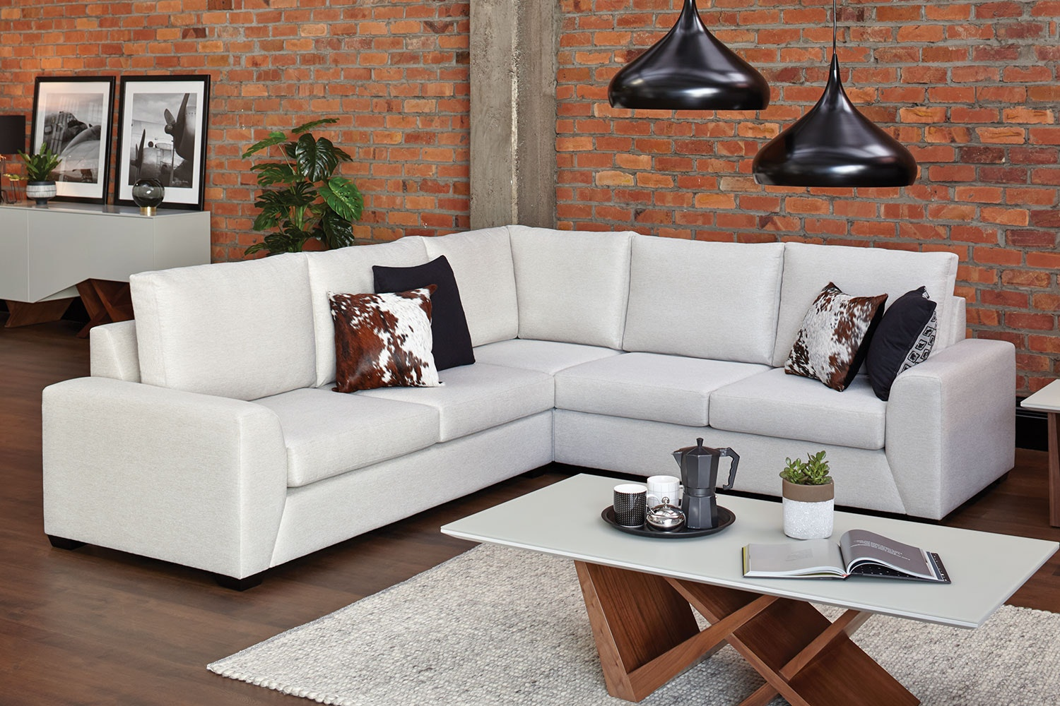 Ella 5-Seater Fabric Corner Lounge Suite by Furniture Haven