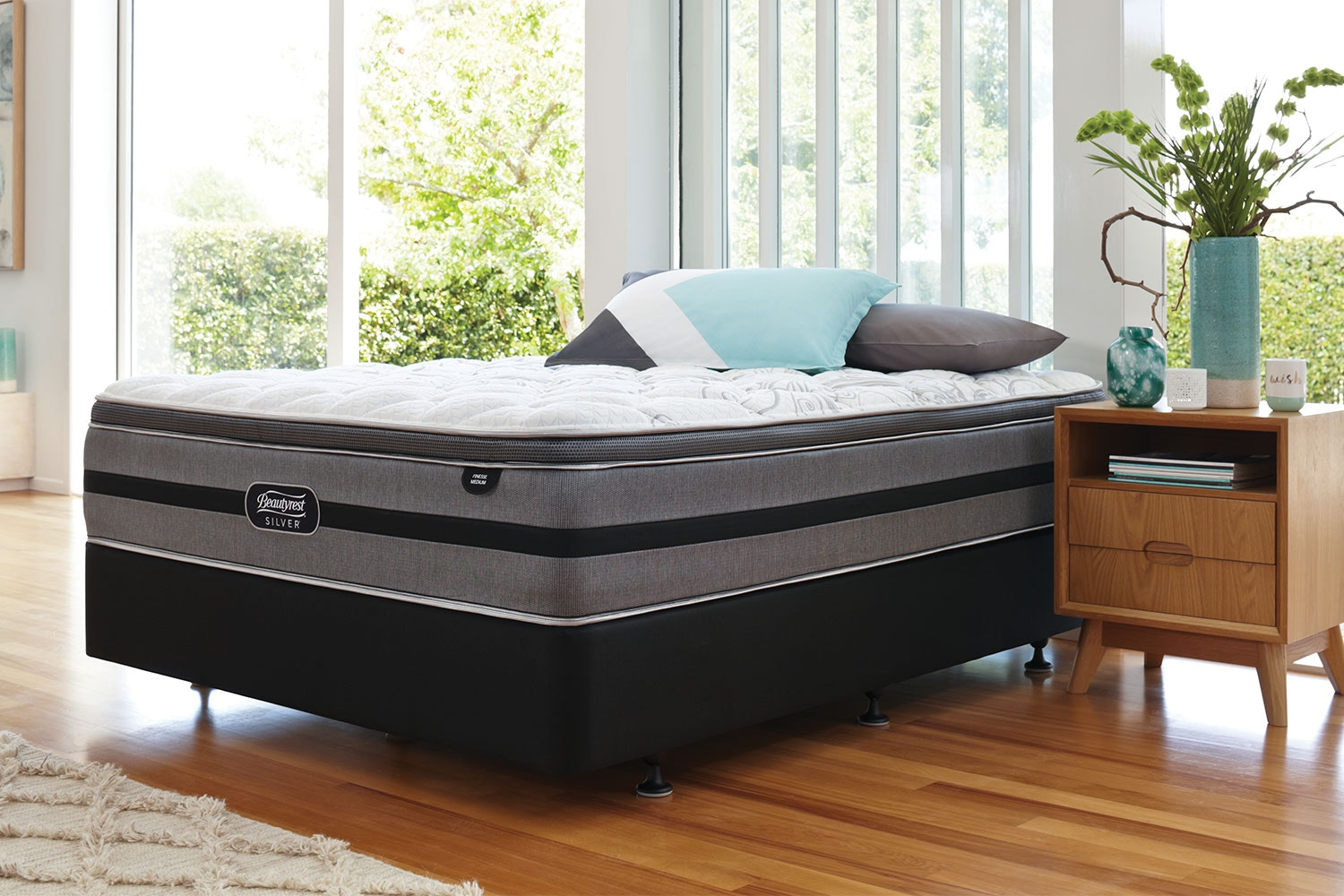 Finesse Medium Queen Bed by Beautyrest