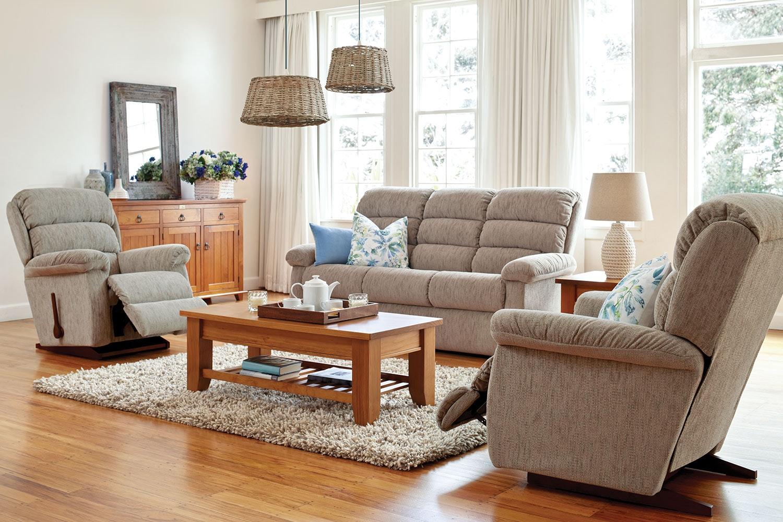 Rapids 3 Piece Fabric Recliner Lounge Suite By La Z Boy Harvey