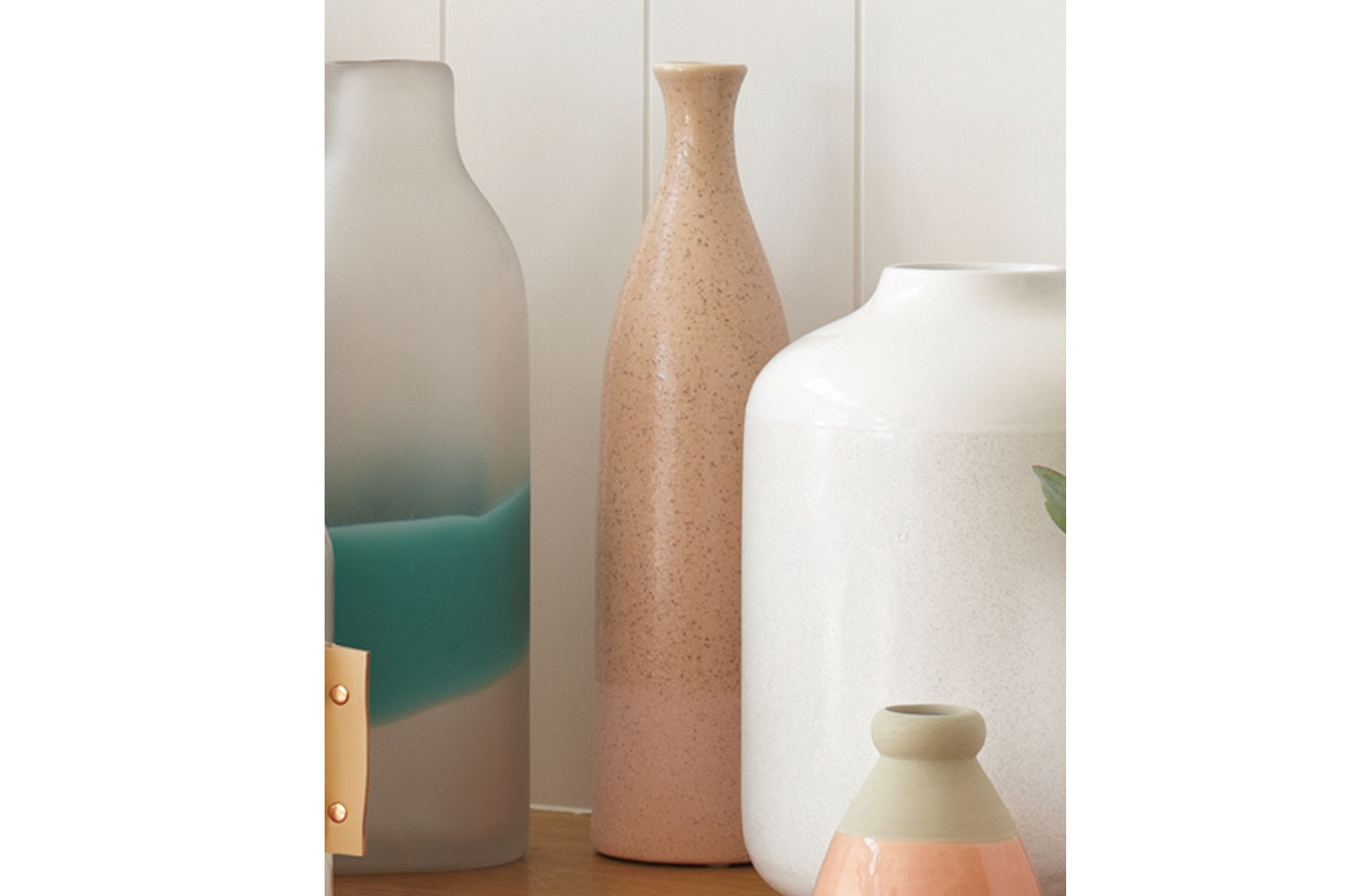 Umbria Light Pink Bottle Vase by Harper Home