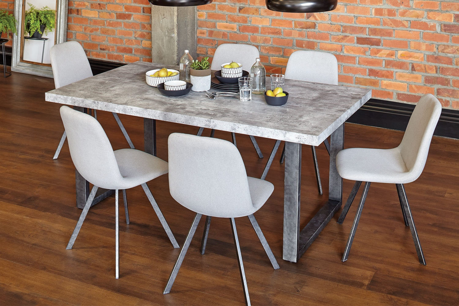 Yolanda 7 Piece Dining Suite by Stoke Furniture - Stone