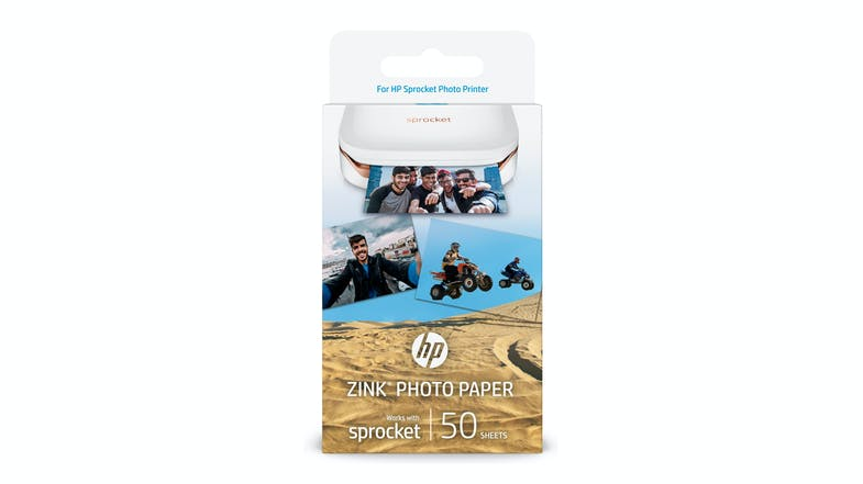 HP Zink 2x3 Photo Paper - 50 Sheets