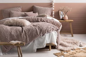 Abigail Pink Duvet Cover Set by Savona