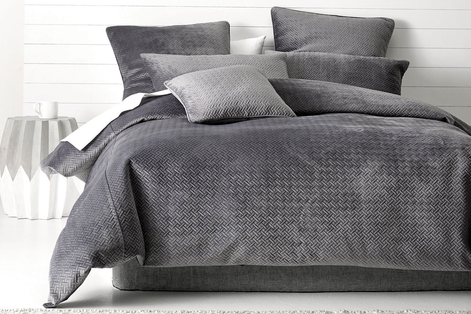 Aidan Charcoal Duvet Cover Set by Savona
