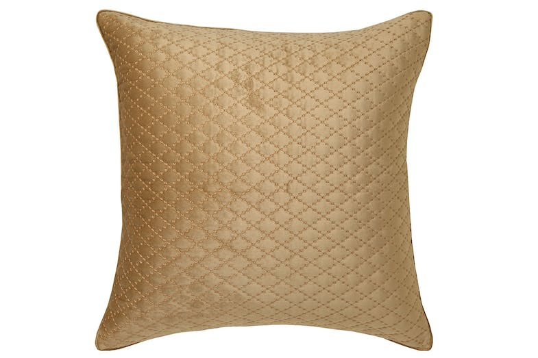 Antique Lattice Accessory Range by Florence Broadhurst - Gold European Pillowcase