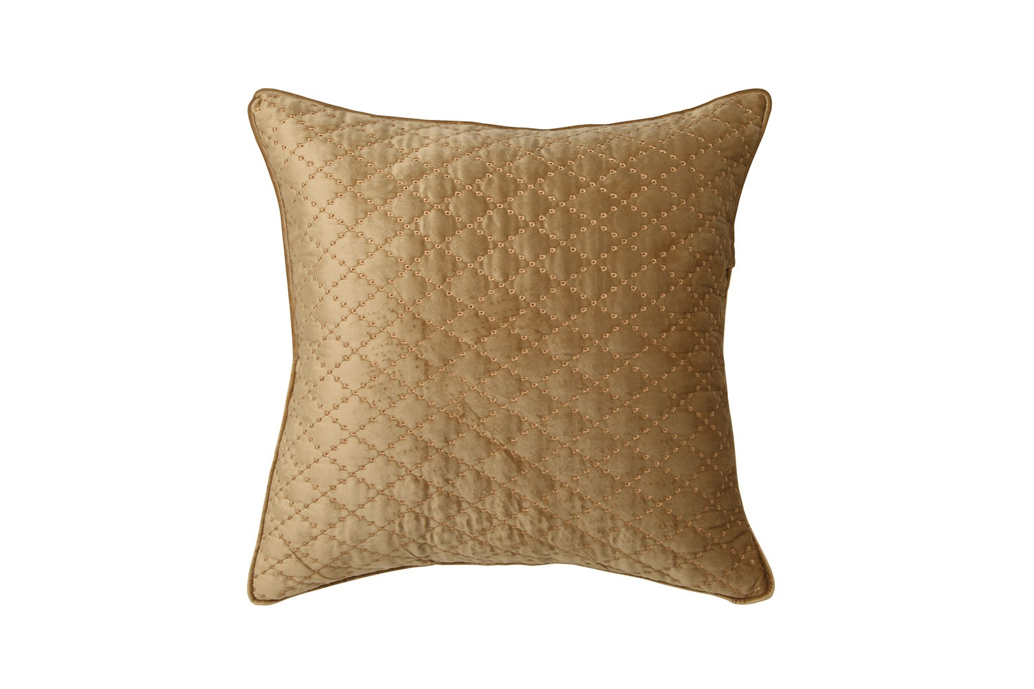 Antique Lattice Accessory Range by Florence Broadhurst - Gold Square Cushion