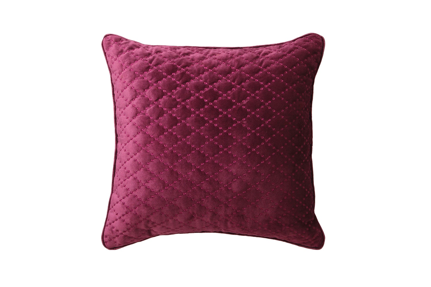 Antique Lattice Accessory Range by Florence Broadhurst - Plum Square Cushion