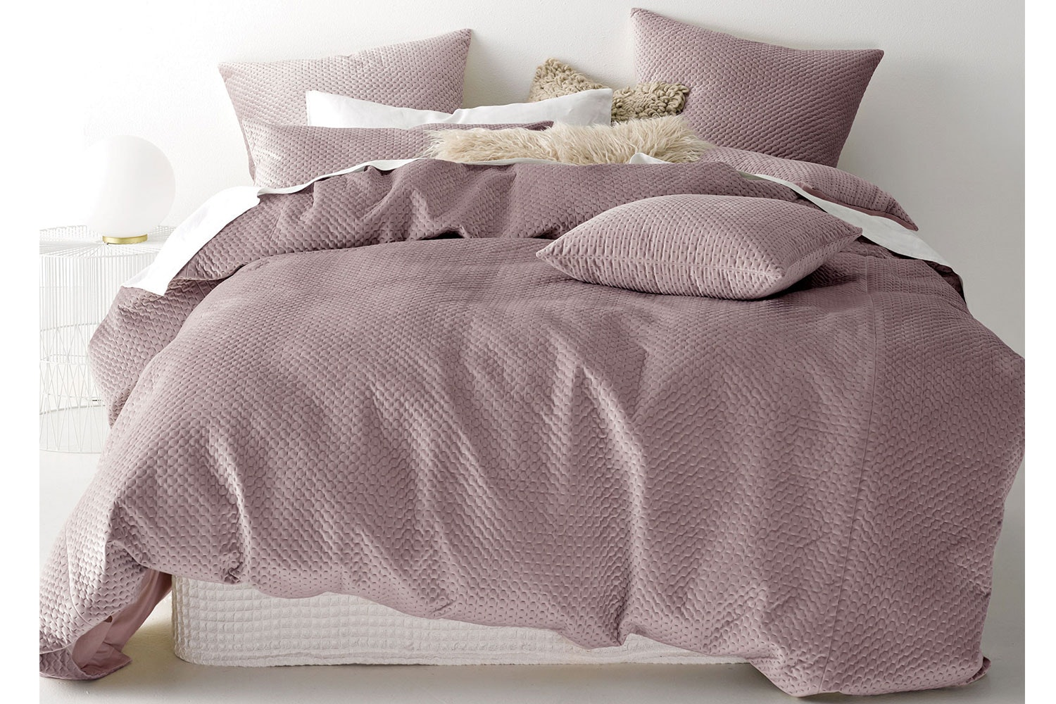 Anya Blush Duvet Cover Set by Savona