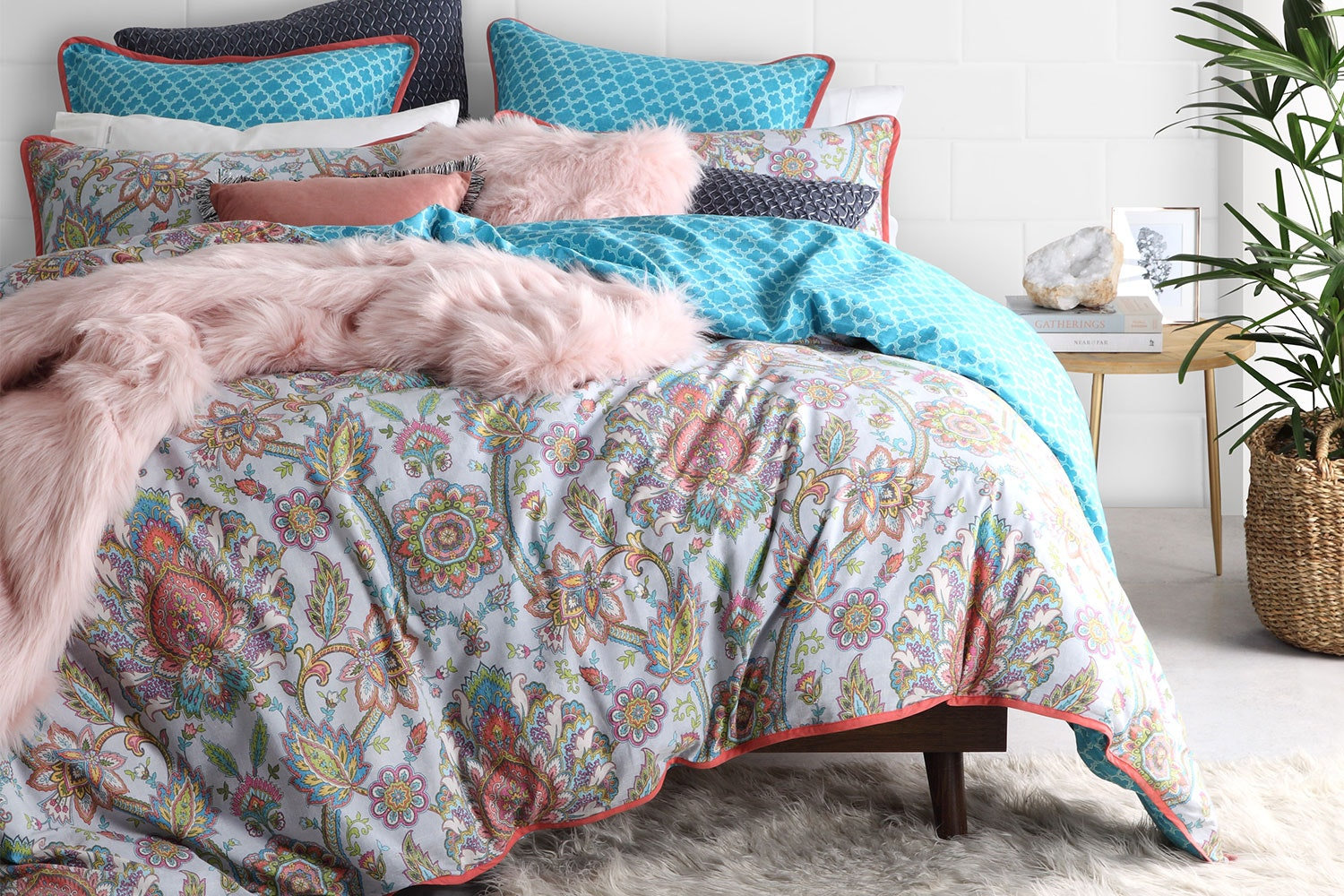Bindhi Multi Duvet Cover Set by Logan and Mason