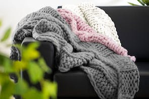 Chunky Knit Throw by Savona