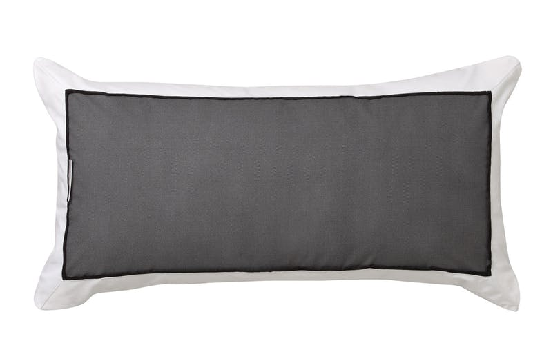 Essex Charcoal Duvet Cover Set by Logan and Mason - Rectangle Cushion