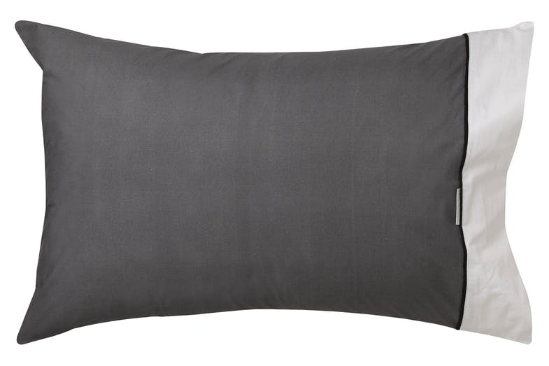 Essex Charcoal Duvet Cover Set by Logan and Mason - Pillowcase