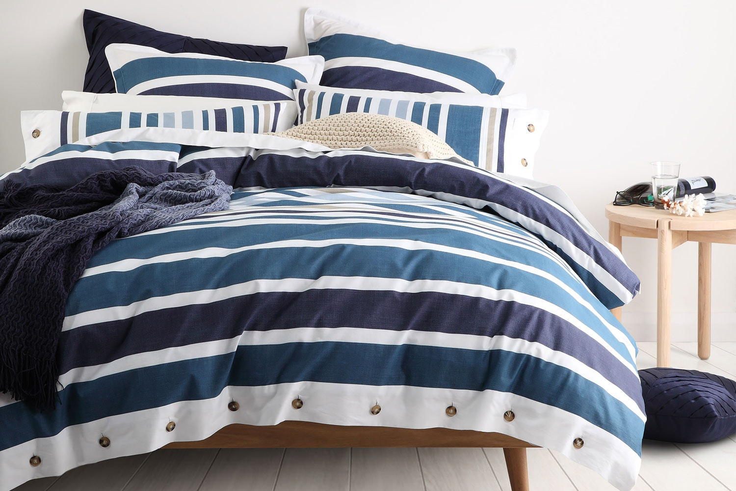 Hunter Navy Duvet Cover Set by Logan and Mason