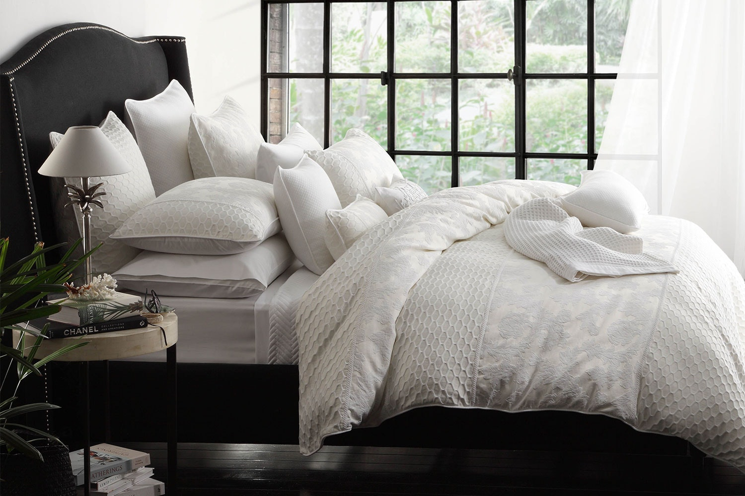 Leyla Ivory Duvet Cover Set by Private Collection