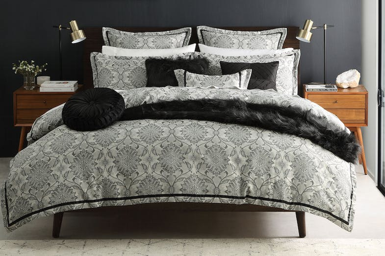 Lombardi Ink Duvet Cover Set by Ultima