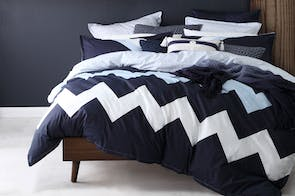 Marley Navy Duvet Cover Set by Logan and Mason