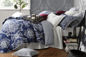 Medallion Indigo Duvet Cover Set by Florence Broadhurst