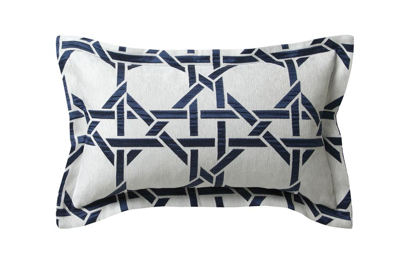 Octagonal Lattice Ink Duvet Cover Set by Florence Broadhurst - Rectangle Cushion