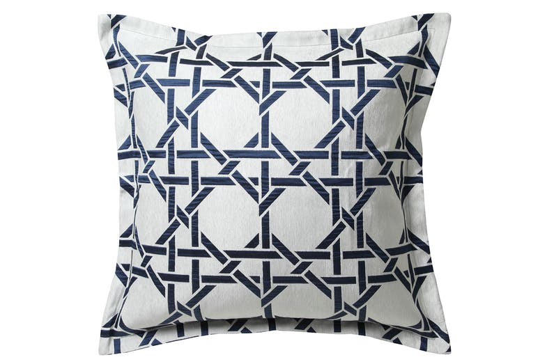 Octagonal Lattice Ink Duvet Cover Set by Florence Broadhurst - European Pillowcase