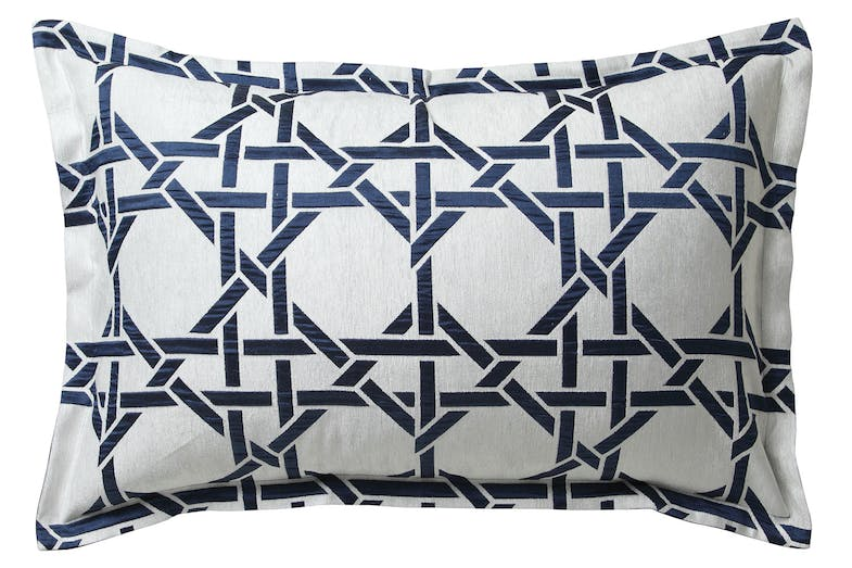 Octagonal Lattice Ink Duvet Cover Set by Florence Broadhurst - Pillowcase