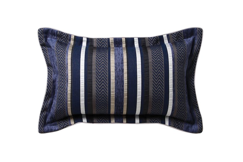 Pierson Navy Duvet Cover Set by Private Collection - Rectangle Cushion